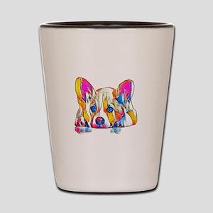 Colorful Corgi Puppy Shot Glass