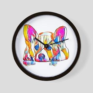 Colorful Corgi Puppy Wall Clock