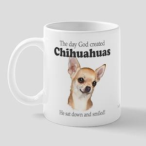 God smiled chihuahuas Mug
