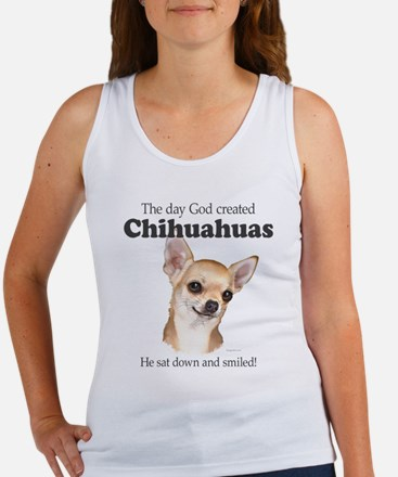 God smiled chihuahuas Women's Tank Top