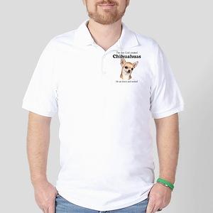 God smiled chihuahuas Golf Shirt