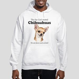 God smiled chihuahuas Hooded Sweatshirt