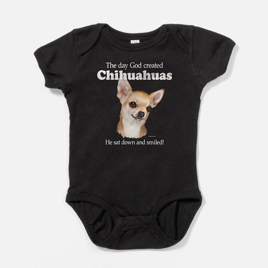 God smiled chihuahuas Baby Bodysuit
