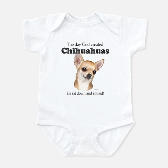 God smiled chihuahuas Infant Bodysuit