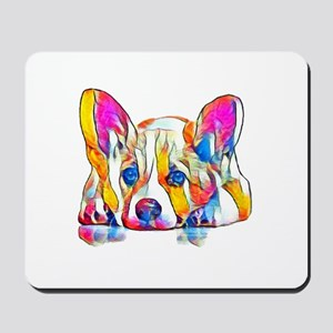 Colorful Corgi Puppy Mousepad