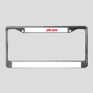 Polka Queen License Plate Frame