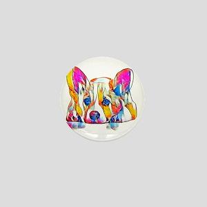 Colorful Corgi Puppy Mini Button (10 pack)