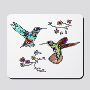 JEWELED HUMMINGBIRDS AND FLOW Mousepad