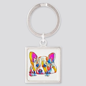 Colorful Corgi Puppy Keychains