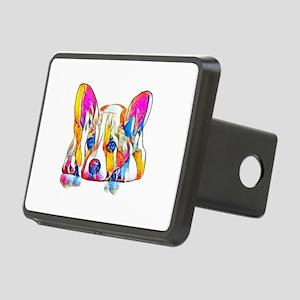 Colorful Corgi Puppy Hitch Cover