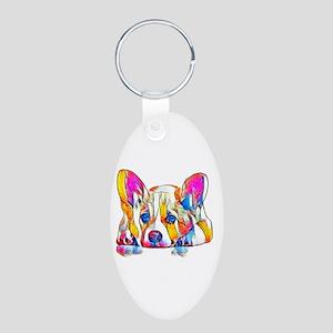 Colorful Corgi Puppy Keychains