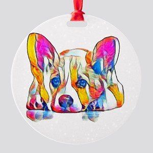 Colorful Corgi Puppy Ornament