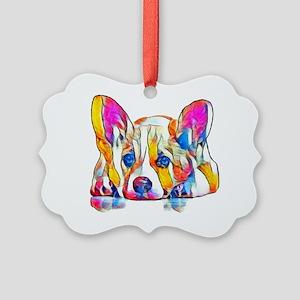Colorful Corgi Puppy Ornament