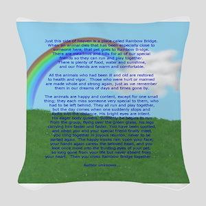 RainbowBridge2 Woven Throw Pillow