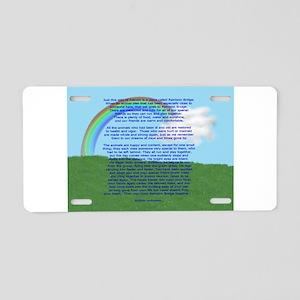 RainbowBridge2 Aluminum License Plate