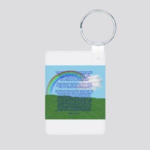 RainbowBridge2 Aluminum Photo Keychain
