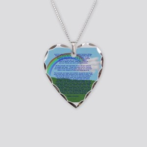 RainbowBridge2 Necklace Heart Charm