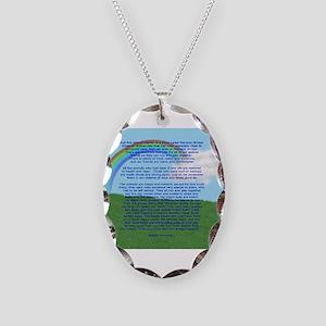 RainbowBridge2 Necklace Oval Charm