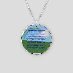 RainbowBridge2 Necklace Circle Charm
