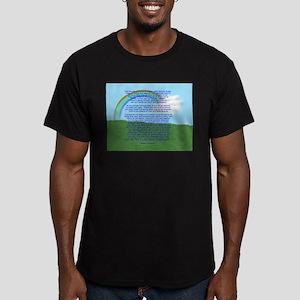 RainbowBridge2 Men's Fitted T-Shirt (dark)