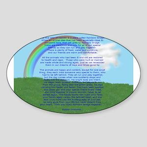 RainbowBridge2 Sticker (Oval)