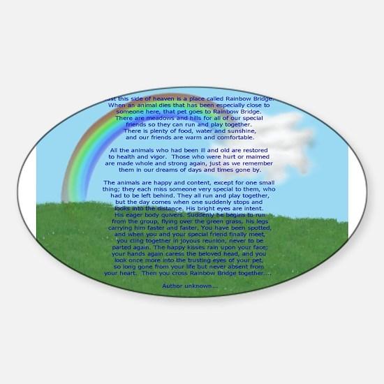RainbowBridge2.jpg Sticker (Oval)