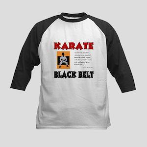 Black Belt Kids Baseball Jersey