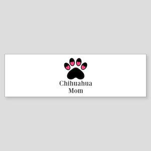 Chihuahua Mom Paw Print Bumper Sticker