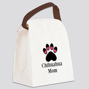Chihuahua Mom Paw Print Canvas Lunch Bag