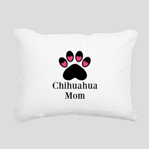 Chihuahua Mom Paw Print Rectangular Canvas Pillow
