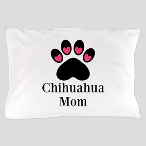 Chihuahua Mom Paw Print Pillow Case