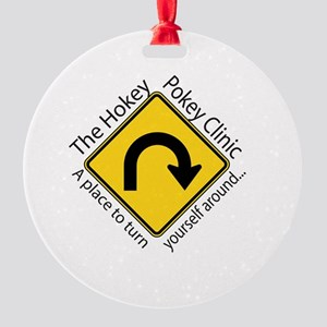 Hokey Pokey Clinic Round Ornament