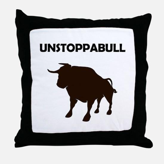 Unstoppabull (Unstoppable Bull) Throw Pillow