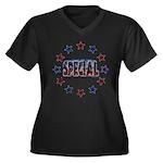 Special Women's Plus Size V-Neck Dark T-Shirt
