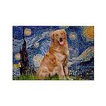 Starry Night Golden Rectangle Magnet (10 pack)