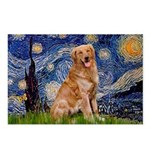 Starry Night Golden Postcards (Package of 8)