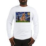 Starry Night Golden Long Sleeve T-Shirt