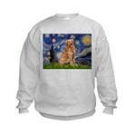 Starry Night Golden Kids Sweatshirt