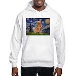 Starry Night Golden Hooded Sweatshirt