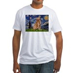 Starry Night Golden Fitted T-Shirt