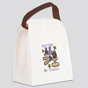 Pottery My Therapy Canvas Lunch Bag