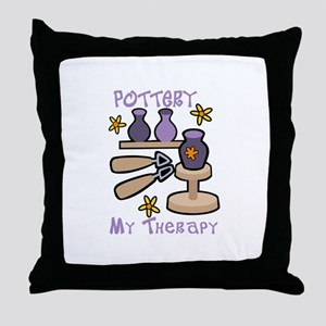 Pottery My Therapy Throw Pillow