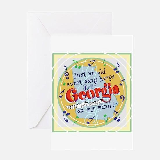 Georgia On My Mind Greeting Cards