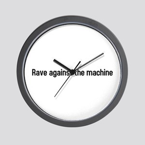 rave against the machine Wall Clock