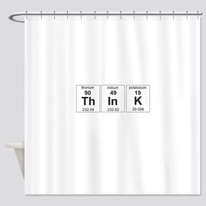 Periodic think elements Shower Curtain