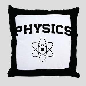 Physics atom Throw Pillow