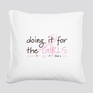 Breast Cancer Awareness Shirt Square Canvas Pillow