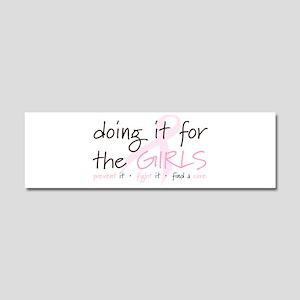 Breast Cancer Awareness Shirt Car Magnet 10 x 3