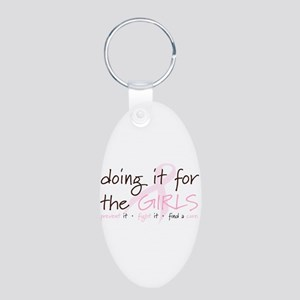 Breast Cancer Awareness Shirt Aluminum Oval Keycha