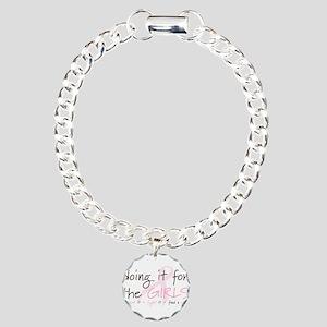 Breast Cancer Awareness Shirt Charm Bracelet, One